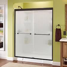 3 8 glass shower door delta mandara 60 in x 70 in semi frameless sliding shower door