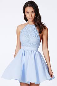 baby blue cross back lace detail party skater dress u2013 liverpool
