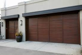decorations wall mount side sliding garage doors in white tone