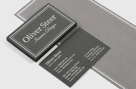 Business Cards Interior Design Luxurious Foil Blocked Duplexed Business Cards For Oliver Steer