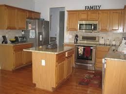 miscellaneous kitchen design with oak cabinets interior