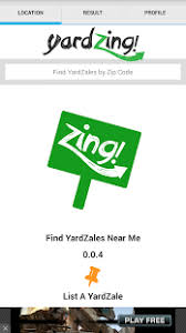 free profile finder yardzing yard sale finder android apps on play