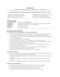 Resume Sample Entry Level by Entry Level System Administrator Resume Sample Free Resume