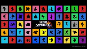 super smash bros wii u wallpapers super smash bros 2014 launch roster wallpaper by echoleader on