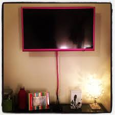 Wall Mount Tv In Apartment Frame A Mounted Tv By Adding Glitter Duct Tape Duck Tape To