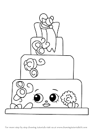 learn how to draw wendy wedding cake from shopkins shopkins step