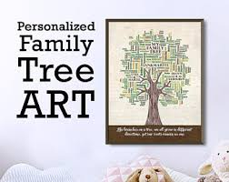 Personalized Pictures With Names Custom Family Tree