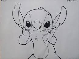 stitch drawing no color by josh18parker on deviantart