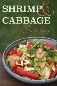 shrimp and cabbage stir fry diabetic foodie