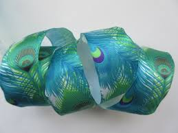 peacock ribbon peacock ribbon blue and green feather ribbon wired 1 1 2 fabrics
