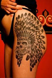 henna skull indian tattoo on hip best tattoo ideas gallery