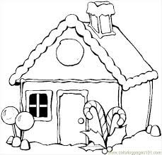 winter house coloring page free houses coloring pages