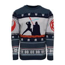 wars sweater official wars luke vs darth jumper sweater