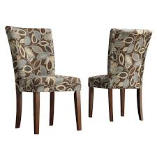 amazon com homelegance royal leaf design fabric parson chairs