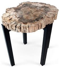 petrified wood end table best of petrified wood side table with petrified wood side table