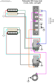 hermetico guitar wiring diagram tele hh 4 way mod with showy