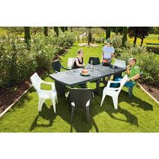 Salon Allibert by Table Rectangulaire New York Chaises De Jardin Tables Chaises