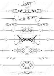 set of swirl divider ornaments royalty free cliparts vectors and