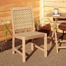 Outdoor Sling Chairs Matalinda Expandable Rectangular Teak Outdoor Table Set Outdoor