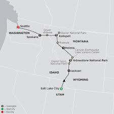 Slc Airport Map Seattle U0026 Salt Lake City Tour Cosmos Affordable Tours