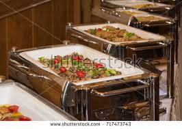how to set a buffet table with chafing dishes food banquet table chafing dish heaters stock photo royalty free
