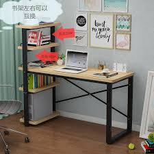 Small Desk Bookshelf Desk Simple Desktop Home Small Desk Bookshelf Combination Simple