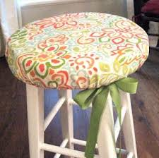 Bar Stool Seat Covers Adorable Barstool Cover Turns A Plain Inexpensive Chair Into A