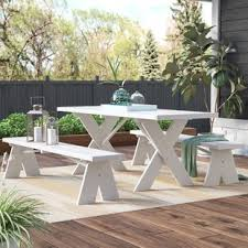 patio table and bench outdoor table and bench set wayfair