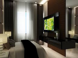 modern bedroom decor metallic trends of young use lcd tv and