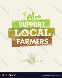 from farm to table local food market from farm to table creative vector image