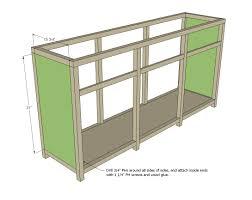 Kitchen Cabinet Building Plans Triple Console Cabinet Woodworking Plans Woodshop Plans