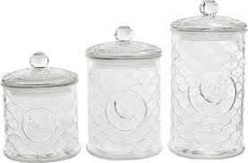 circle glass rooster design 3 piece kitchen canister set reviews default name