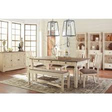 bolanburg dining room set w bench signature design furniture cart