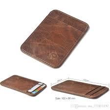 Designer Travel Card Holder Cowhide Card Holder Credit Card Safe Wallet Men Wallets Carteira