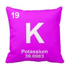 Potassium On Periodic Table Potassium Pillows Decorative U0026 Throw Pillows Zazzle