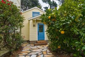 susan u0027s tiny backyard cottage with a loft and stairs new avenue