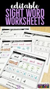 zaner bloser writing paper printable best 25 printing practice ideas on pinterest handwriting sight word worksheets for kindergarten first grade worksheets and second grade worksheets these editable sight word printables are so easy