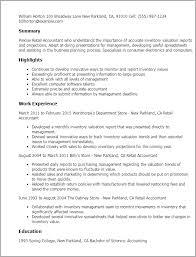 Fresher Accountant Resume Sample by Professional Retail Accountant Templates To Showcase Your Talent