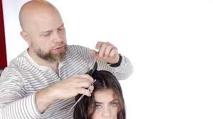 mens tidal wave hair cut medium length curly haircut step by step thesalonguy youtube