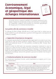 bureau du commerce international commerce international