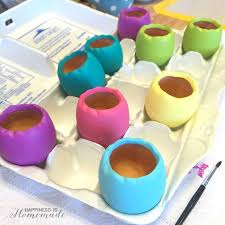 ceramic easter eggs easter egg succulent planters happiness is