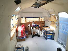 Vintage Airstream Interior by Airstream Renovation Archives Moose Studio Blog California