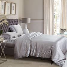 silver silk bed linen from the finest mulberry silk