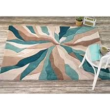 Turquoise Area Rug Very Large Quality Modern Heavyweight Modern Art Design Turquoise