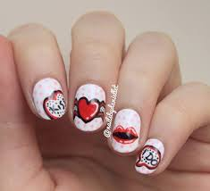 pop art valentine u0027s nails nail art by danielle nailpolis