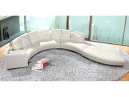 Modern Single Leather Sofas Curving Leather Couch With Back And Single Arm Rest Placed On The