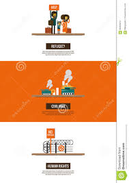 refugees of the syrian civil war infographics stock vector
