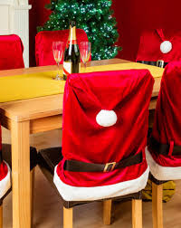 Christmas Chair Back Covers Bluecookies Christmas Santa Hat Chair Back Covers