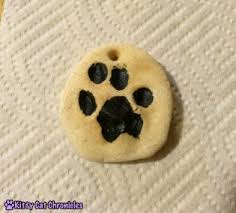diy paw print ornament cat chronicles