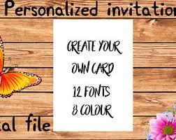 create your own card custom birthday card etsy